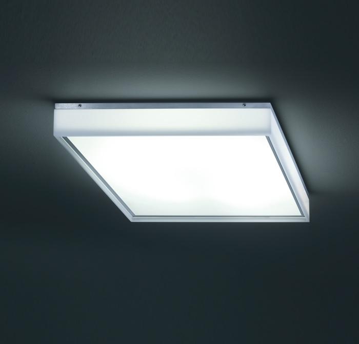 STEN LED - LED-Deckenlampe - Wandleuchte in edelstahl-finish von Helestra