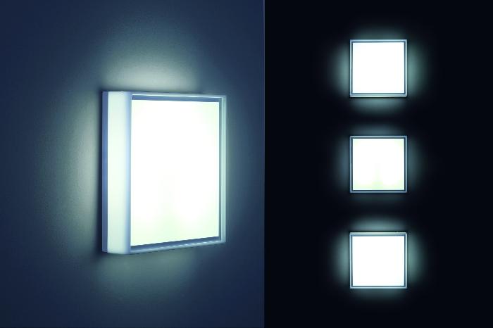 STEN LED - LED-Wandleuchte in edelstahl-finish von Helestra