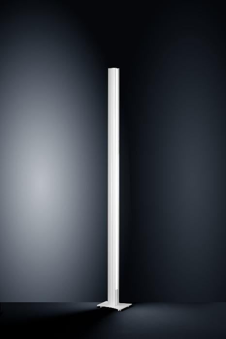 IX-ES - LED-Design Stehleuchte in glanzweiß - chrom von Helestra